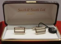 Silver Coloured Cufflinks - 1Brushed Finish